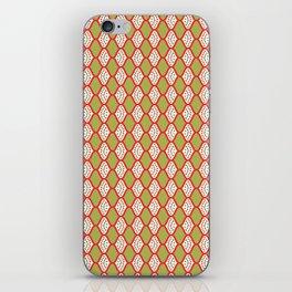 Trendy Christmas Stripes Background iPhone Skin