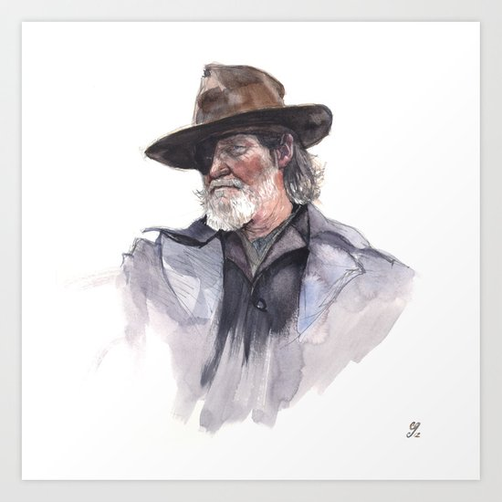 Jeff Bridges (Rooster Cogburn) Art Print