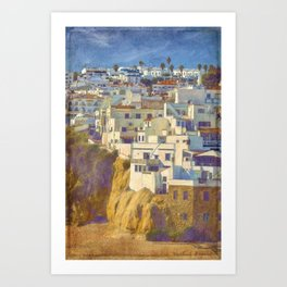 Albufeira citadel houses Art Print