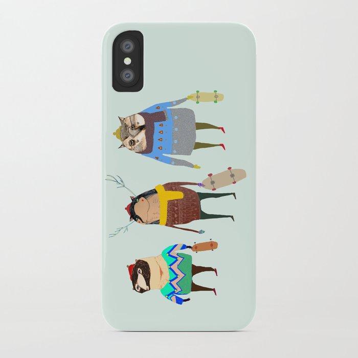 Skateboarders. iPhone Case