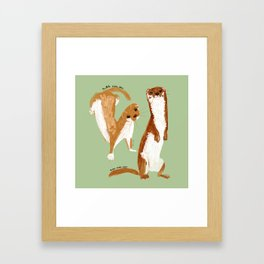 Funny Weasel ( Mustela nivalis ) Framed Art Print