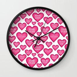 Love heart Valentines love hearts, Wall Clock