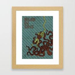 Dead in Sins Framed Art Print