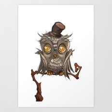 It surely was a hoot! Art Print