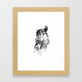 Femme Loup Tattoo Framed Art Print