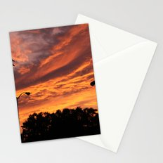 Pink and Orange Sunset Stationery Cards