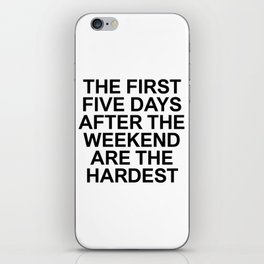 FACTS 001 iPhone Skin