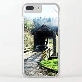 Covered Bridge Clear iPhone Case