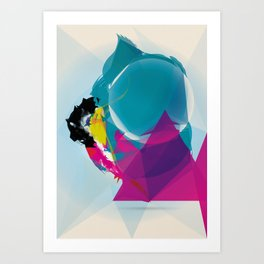Compressed Colour Art Print