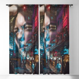 China America double exposure Blackout Curtain