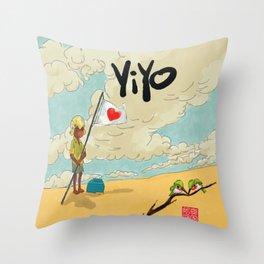 Yiyo y los Barancolis Throw Pillow