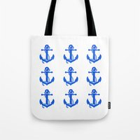anchors Tote Bags featuring Anchors by Chilligraphy