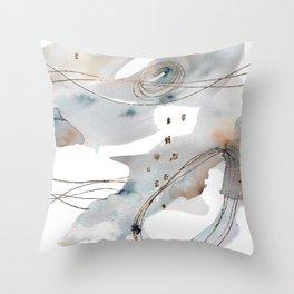 Gold Celestial Strings Throw Pillow