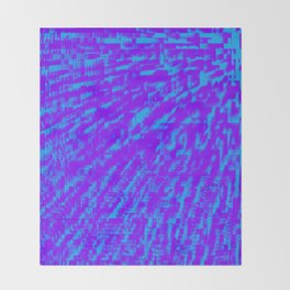Purple Blue Abstract Throw Blanket