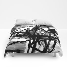 Black & White Abstract IV Comforters