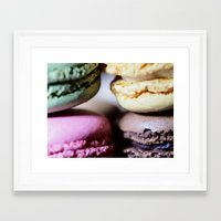 macaron Framed Art Prints featuring Macaron by Alexis Clunet