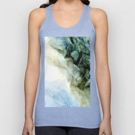 Land and Sky Abstract Landscape Painting Unisex Tank Top