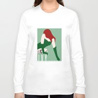 poison ivy Long Sleeve T-shirts featuring Poison Ivy by Rizwanb