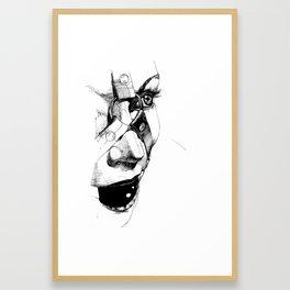 Ball Gagged Framed Art Print
