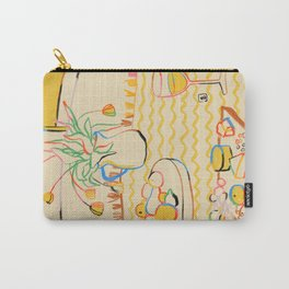 YELLOW TULIPS, WINE AND CHEESE Carry-All Pouch