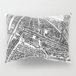 Vintage Map of Rotterdam Netherlands (1649) 2 BW Pillow Sham