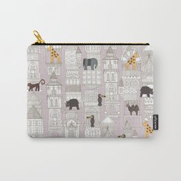 urban jungle blush pink Carry-All Pouch