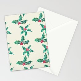 Winter Holly Stationery Cards