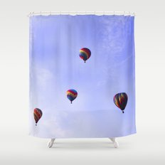 A Ride In The Sky - Hot Air Balloons  Shower Curtain