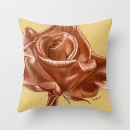 Sanguine Rose Throw Pillow
