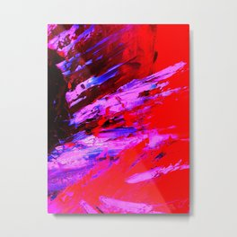 Abstract Shrapnell II by Robert S. Lee Metal Print