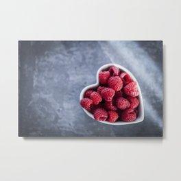 Raspberries for a Healthy Heart Metal Print
