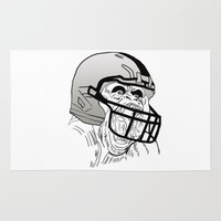 nfl Area & Throw Rugs featuring American Football Gorilla by raeuberstochter
