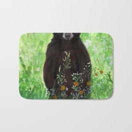 Cinnamon Black Bear Cub Bath Mat