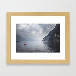 Lake Garda, Italy. || Riva del Garda. || Mountainscape. || Dolomites. || Alps. || Landscape. Framed Art Print