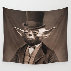 Portrait of Sir Yoda Wall Tapestry