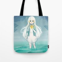 cyarin Tote Bags featuring Safe Haven by Cyarin