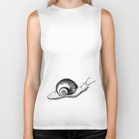 snail Biker Tanks featuring Snail by Aubree Eisenwinter