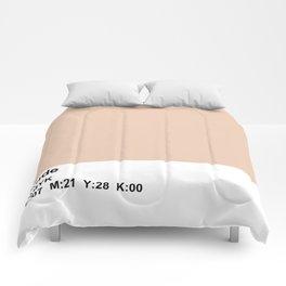 pantone, nude, CMYK colorblock Comforters
