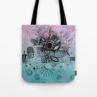 doodle Tote Bags featuring Doodle by Maureen Mitchell