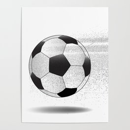 Moving Football Poster