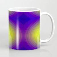 70s Mugs featuring Flashy 70s,blue by MehrFarbeimLeben
