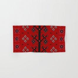 Red Tribal Ethnic Boho Kilim Love Birds Hand & Bath Towel