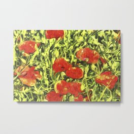 Poppys Van Goth Art Metal Print