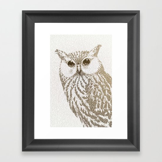 The Intellectual Owl Framed Art Print