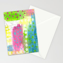 Polk-A-Dotted Background Stationery Cards