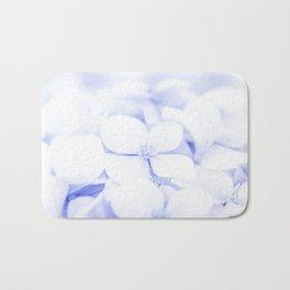 Soft blue delicate flowers Bath Mat