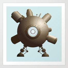 Steampunk Spaceship Art Print