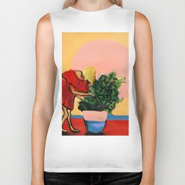 I Have This Thing With Plants Biker Tank