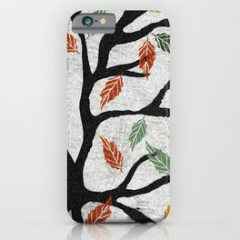 Last Autumn Leaves Watercolor iPhone Case