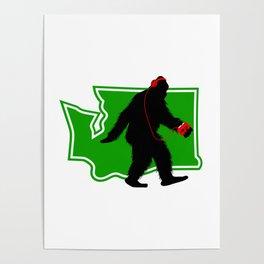 Bigfoot walk in Washington Poster
